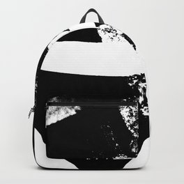 Metal Stripe Black and White Backpack