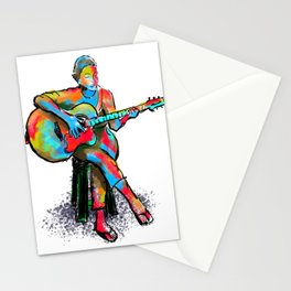 The guitarist Stationery Cards