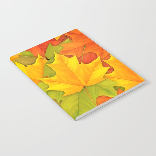 Autumn leaves #9 Notebook