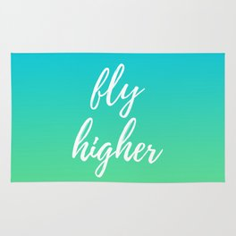 Fly Higher - Blue Green Ombre Rug