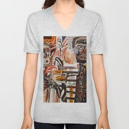 A vectorised Basquiat Unisex V-Neck