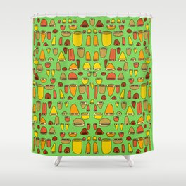 Shells & Rounds - In October Shower Curtain