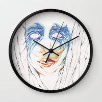 artpop Wall Clocks featuring ARTPOP by Alex Rocha