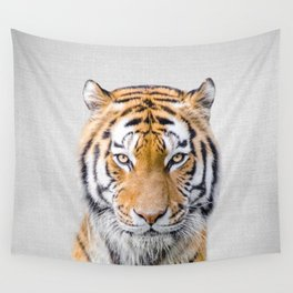 Tiger - Colorful Wall Tapestry