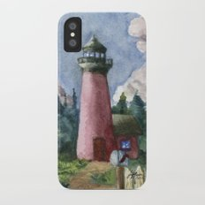 Cozy Lighthouse iPhone X Slim Case