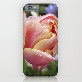Tulip with soft orange colors I Dewdrops I Love I Photography I Fine art iPhone Case