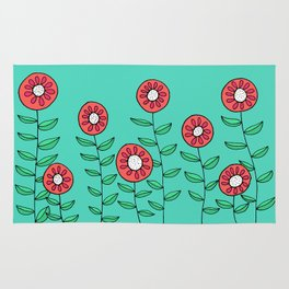 Colorful Garden of Flowers Rug