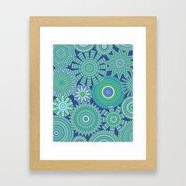 Kaleidoscopic-Oceania colorway Framed Art Print