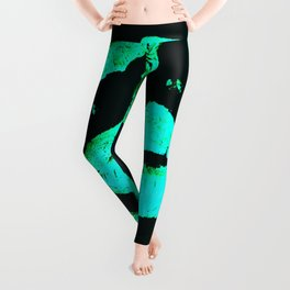 Kisses All Over (Green) Leggings