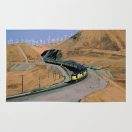 Chicago & Northwestern Train Through Altamont Pass Rug