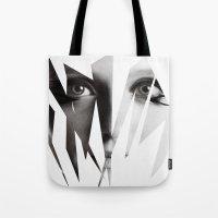 broken Tote Bags featuring Broken by Maressa Andrioli