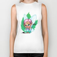 elf Biker Tanks featuring Hockey Elf by Havard Glenne