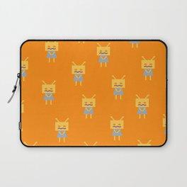 Shy Little Robot (orange) Laptop Sleeve