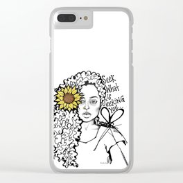 #STUKGIRL QUEEN Clear iPhone Case