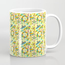 Mexican Fiesta Pinate Party Pattern Coffee Mug