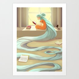 Reading sets you free Art Print