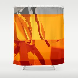 Abstract Glitch 02 Shower Curtain