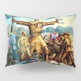 Classical Abolitionist Masterpiece by John Steuart Curry - Tragic Prelude  - John Brown. Pillow Sham