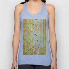 Autumn Birch Unisex Tank Top