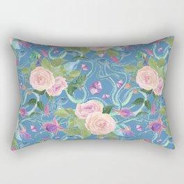 blue snakes pattern Rectangular Pillow