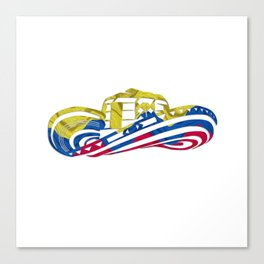 Colombian Sombrero Vueltiao in Colombian Flag Colors Canvas Print