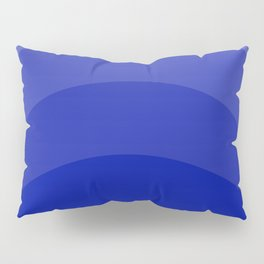 Four Shades of Blue Curved Pillow Sham