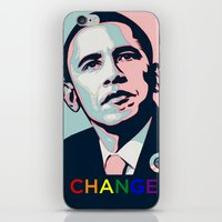 obama iPhone & iPod Skins featuring Obama LGBT by HUMANSFOROBAMA