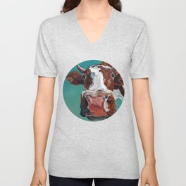 How Now Brown Cow Unisex V-Neck