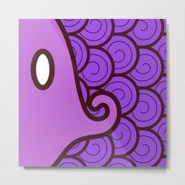 Niji Sakana (Purple) Metal Print