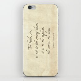 The Battle by Patrick Henry iPhone Skin