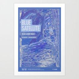 Blue Satellite Art Print