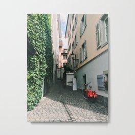 Cheerful Alleyway in Lucerne Metal Print