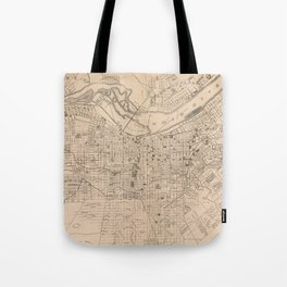 Vintage Map of Louisville Kentucky (1873) Tote Bag