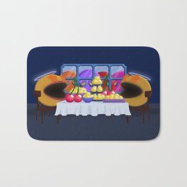 """""""You prepare a table before me in the presence of my enemies."""" Psalm 23:5 Bath Mat"""