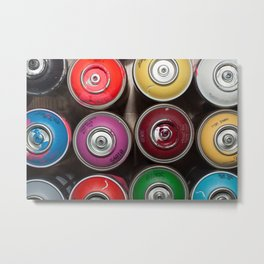 SPRAY CANS 3 Metal Print