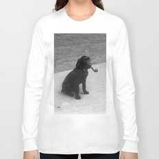 Pipe puffing dog. Long Sleeve T-shirt