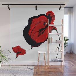 Red Flower Art Wall Mural