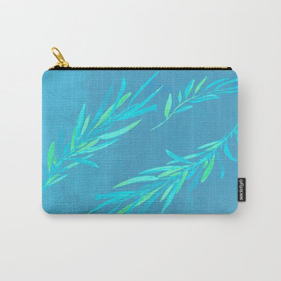 Eucalyptus leaves blue Carry-All Pouch