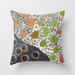 Playful Yin and Yang Pattern Throw Pillow