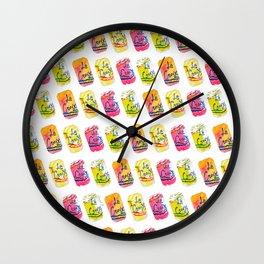 La Croix Watercolor Print Wall Clock