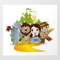 oz Art Prints featuring Oz by 7pk2 online