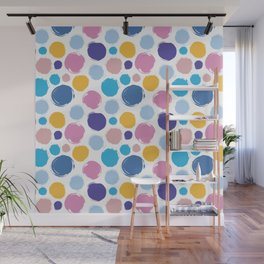 Colorful ink dots Wall Mural