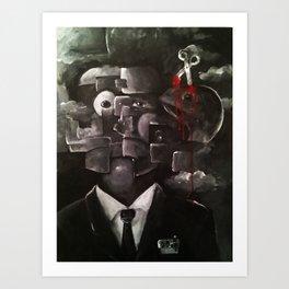 Eraser Cranium Art Print