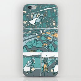 a flying duck iPhone Skin