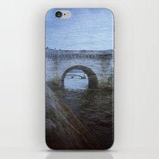 Paris Bridge & Seine Holga Double Exposure iPhone Skin
