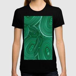 Green Malachite Nature Pattern Design Abstract T-shirt
