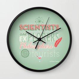 Feynman Wall Clock