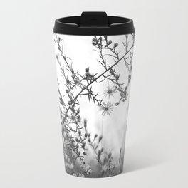 Wild Asters Botanical BW Travel Mug