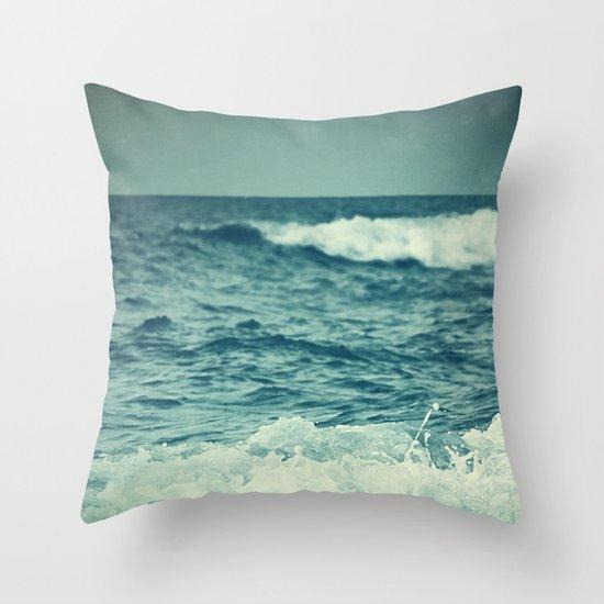 The Sea IV. Throw Pillow