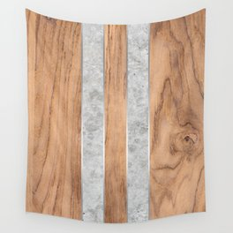 Wood Grain Stripes - Concrete #347 Wall Tapestry